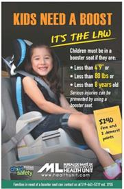 Child sitting in booster seat