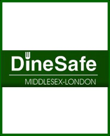 A picture of the DineSafe Logo
