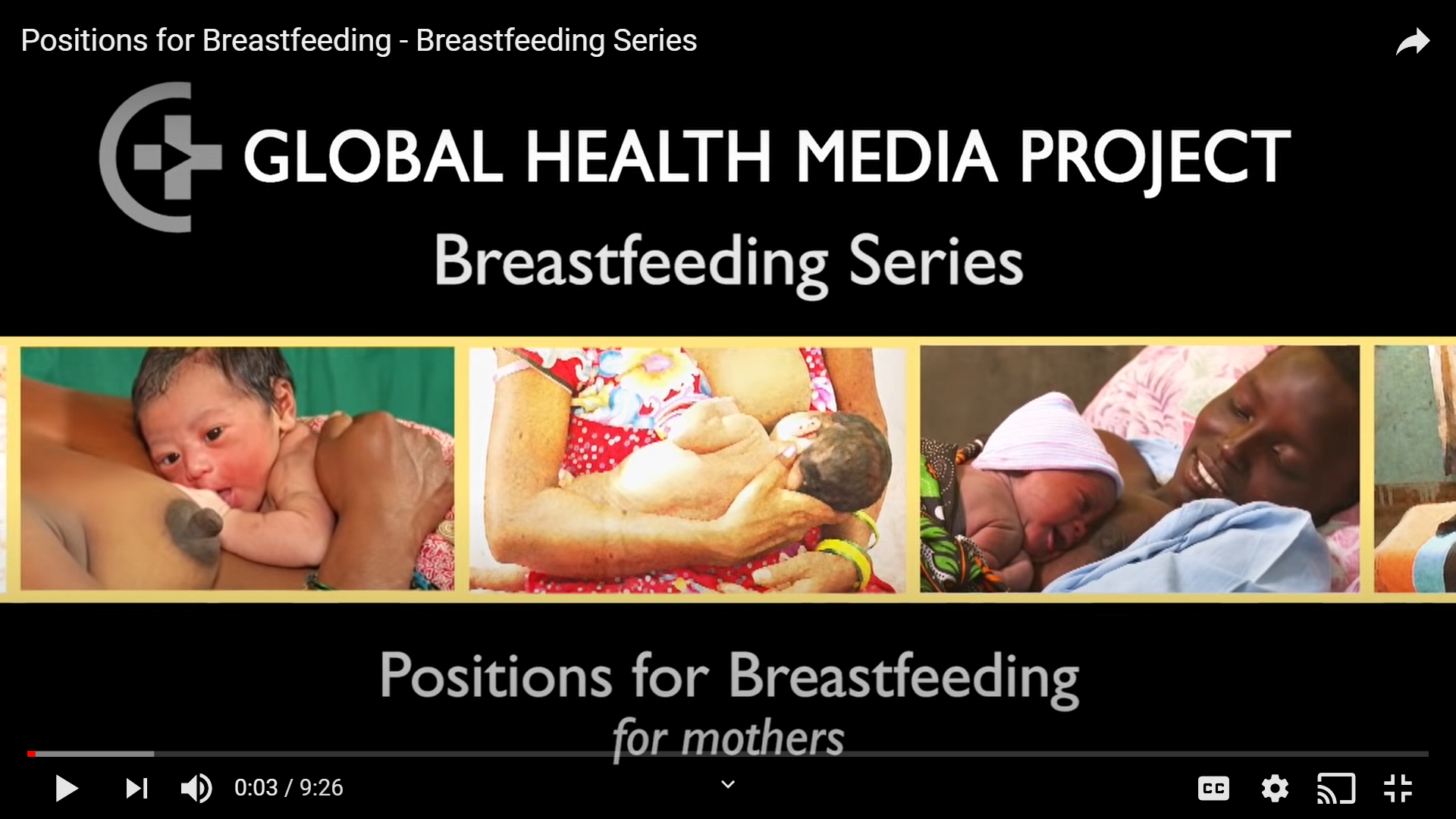 Positions for Breastfeeding (Global Health Media Project)