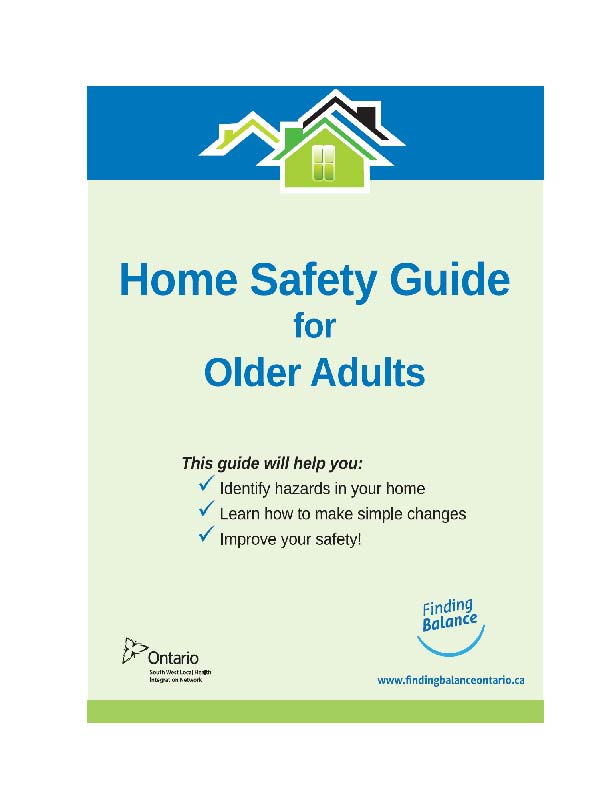 Front page of the Home Safety Guide